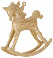 ROCKING HORSE DECORATION - GOLD - Gold