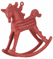 ROCKING HORSE DECORATION - RED - Red
