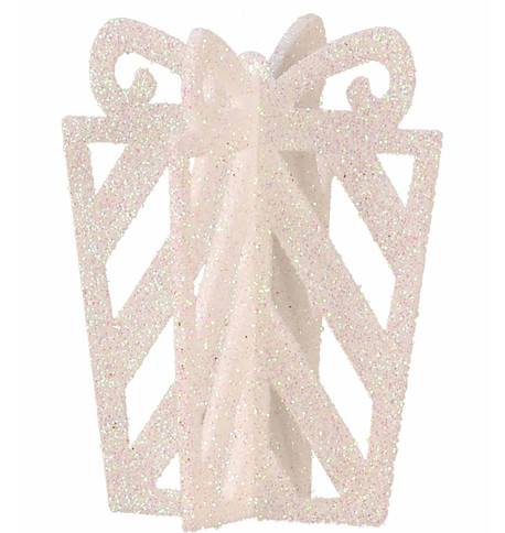 GLITTERED GIFT BOX DECORATION - IRIDESCENT Iridescent