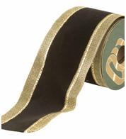 VELVET RIBBON - BLACK AND GOLD - Black