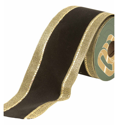 VELVET RIBBON - BLACK AND GOLD Black & Gold