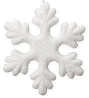 IRIDESCENT GLITTER SNOWFLAKE - White