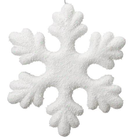 IRIDESCENT GLITTER SNOWFLAKE White