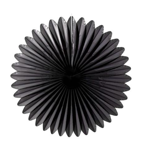 FLOWER FAN - BLACK Black