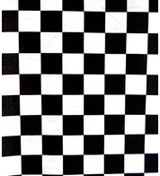 CHESS COTTON - Black And White