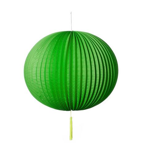 PAPER BALL LANTERN - GREEN Green