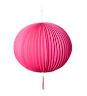 PAPER BALL LANTERN - PINK - Pink