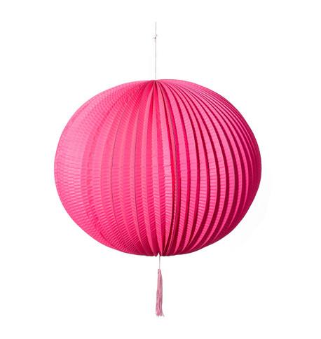 PAPER BALL LANTERN - PINK Pink