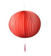 PAPER BALL LANTERN - RED - Red