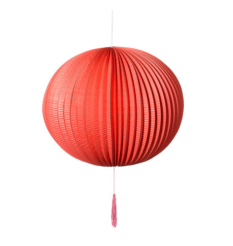PAPER BALL LANTERN - RED Red