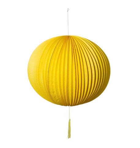 PAPER BALL LANTERN - YELLOW Yellow