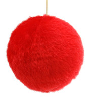 FUR BALL - RED - Red