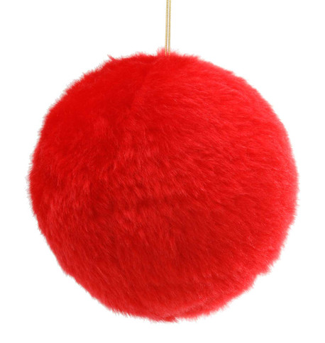 FUR BALL - RED Red