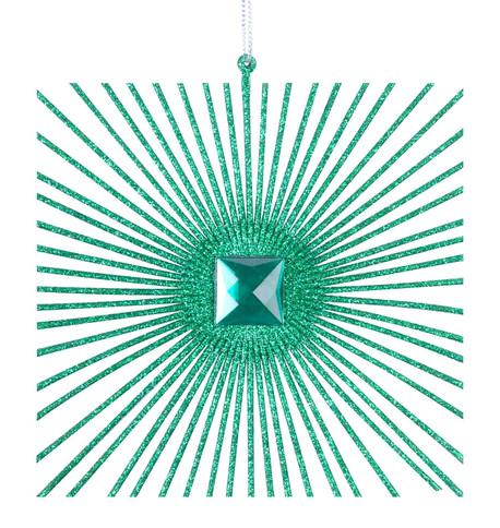 SMALL GLITTER SQUARE - GREEN Green