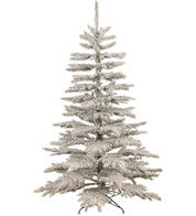 FLOCKED NORWAY SPRUCE CHRISTMAS TREE - White