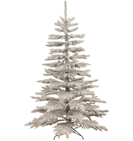 FLOCKED NORWAY SPRUCE CHRISTMAS TREE White