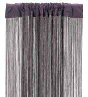 FRINGE CURTAIN - AUBERGINE - Purple