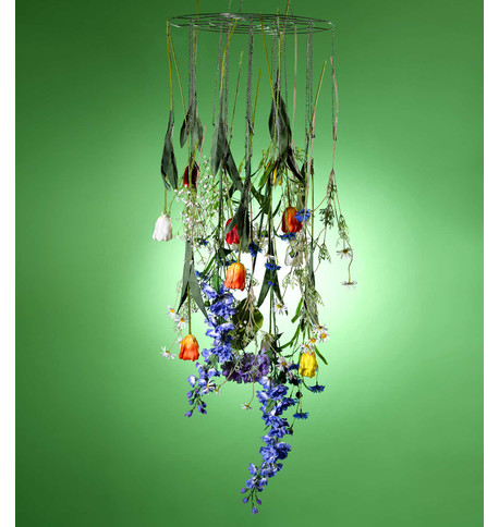 CHANDELIER WITH HANGING CLIPS Silver