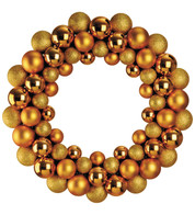 BAUBLE WREATH - GOLD - Gold