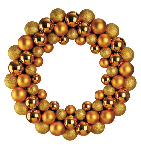 BAUBLE WREATH - GOLD Gold