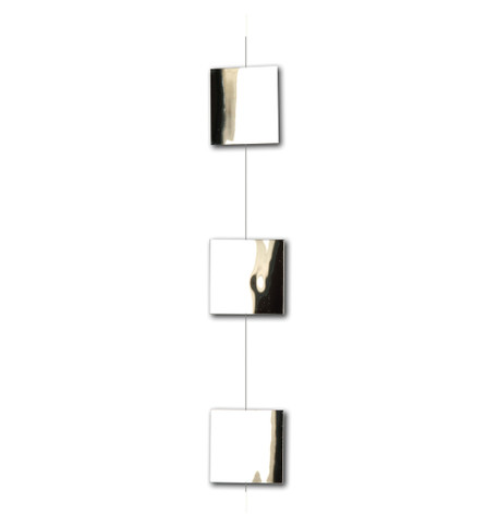 PVC MIRROR SQUARES GARLAND Silver
