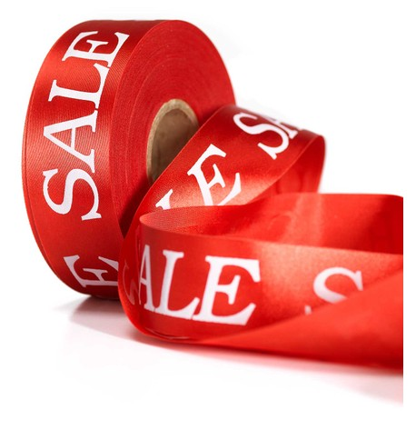 SALE RIBBON - RED Red