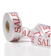 SALE RIBBON - WHITE - White