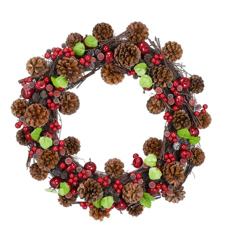 BERRY & CONE WREATH Multi