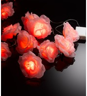 LED ROSE GARLAND  - Pink