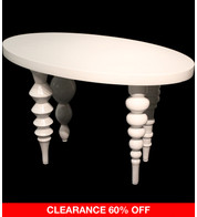 OVAL DISPLAY TABLE - WHITE - White