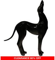 GREYHOUND HOWLING - BLACK - Black