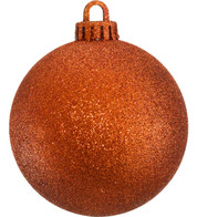 GLITTER BAUBLES - ORANGE - Orange