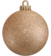 GLITTER BAUBLES - ROSE GOLD - Rose Gold