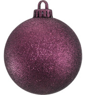 GLITTER BAUBLES - MULBERRY - Purple