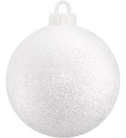 GLITTER BAUBLE - SPARKLING WHITE - Sparkling White