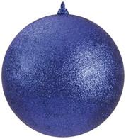 300mm GLITTER BAUBLES - BLUE - Blue