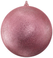 300mm GLITTER BAUBLES - BLUSH PINK - Pink