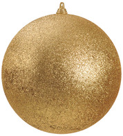 300mm GLITTER BAUBLES - GOLD - Gold