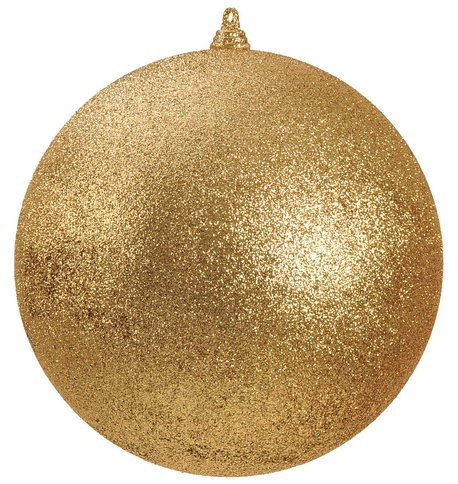 300mm GLITTER BAUBLES - GOLD Gold