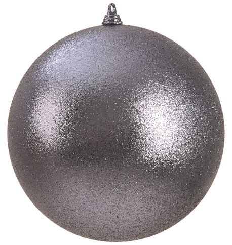 300mm GLITTER BAUBLES - GRAPHITE Graphite