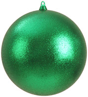 300mm GLITTER BAUBLES - GREEN - Green