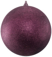 300mm GLITTER BAUBLES - MULBERRY - Mulberry