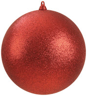 300mm GLITTER BAUBLES - RED - Red