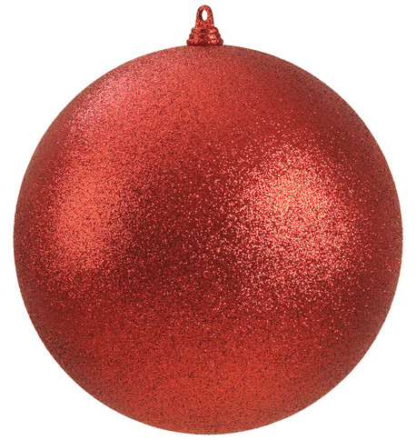 300mm GLITTER BAUBLES - RED Red