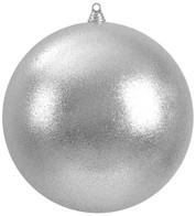 300mm GLITTER BAUBLES - SILVER - Blue
