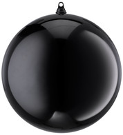 300mm SHINY BAUBLES - BLACK - Black