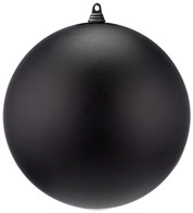 300mm MATT BAUBLES - BLACK - Black