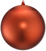 300mm MATT BAUBLES - ORANGE - Orange