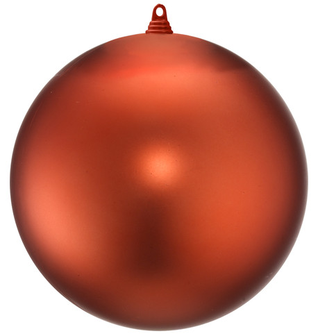 300mm MATT BAUBLES - ORANGE Orange