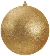 400mm GLITTER BAUBLES - GOLD - Gold